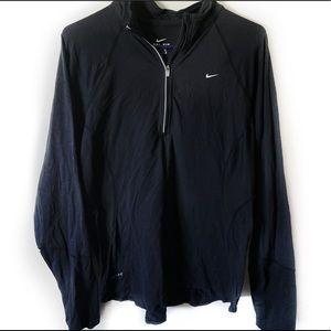 Nike Woman's Dri Fit Black Half Zip Jacket Large